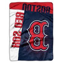 MLB Boston Red Sox Strike Plush Raschel Blanket, Blue, 60 x