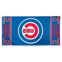 """MLB Chicago Cubs A1877115 Fiber Beach Towel, 9 lb/30"""" x 60"""
