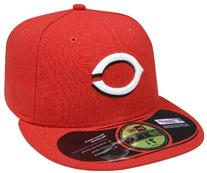 MLB Cincinnati Reds Authentic On Field Game 59FIFTY Cap ,