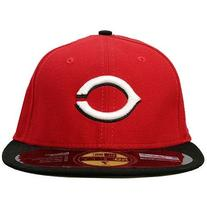 MLB Cincinnati Reds Road AC On Field 59Fifty Fitted Cap-712