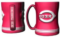 MLB Cincinnati Reds Sculpted Relief Mug, 14-ounce