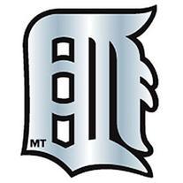 MLB Detroit Tigers Chrome Automobile Emblem