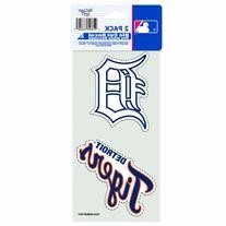 "MLB Detroit Tigers 2-Piece Die-Cut Decal, 4"" x 8"