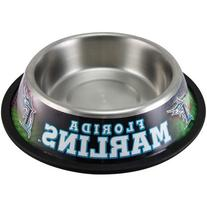 MLB Florida Marlins Stainless Steel Pet Bowl