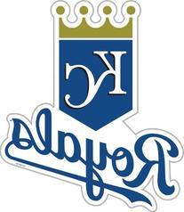 MLB Kansas City Royals 12-Inch Vinyl Logo Magnet
