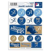 "MLB Kansas City Royals Vinyl Sticker Sheet, 5"" x 7"