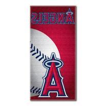 MLB Los Angeles Angels Emblem Beach Towel, 28 x 58-Inch