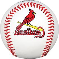 MLB St. Louis Cardinals Baseball with Team Logo