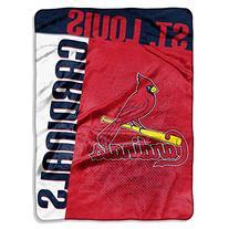 MLB St. Louis Cardinals Strike Plush Raschel Blanket, Red,