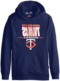 MLB Minnesota Twins Men's SA2 Fleece Hoodie, Navy, X-Large