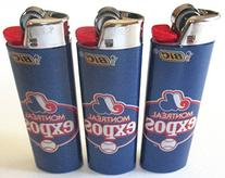 Bic MLB Montreal Expos Full Size Lighters Lot of 3