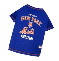 Pets First MLB New York Mets Dog Tee Shirt, Medium