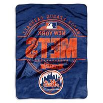 "MLB New York Mets ""Structure"" Micro-Raschel Throw, Blue, 46"