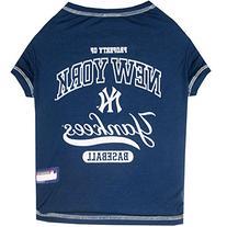 Pets First MLB New York Yankees Dog Tee Shirt, Medium