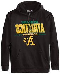 MLB Oakland Athletics Men's SA2 Fleece Hoodie, Black, Large