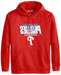 MLB Philadelphia Phillies Men's SA2 Fleece Hoodie, Red, X-