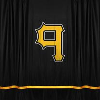 MLB Pittsburgh Pirates Sidelines Shower Curtain, 72 x 72,
