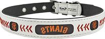 MLB San Francisco Giants Classic Leather Baseball Dog Collar