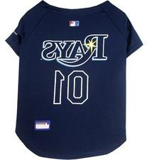Pets First MLB Tampa Bay Rays Dog Jersey, X-Small