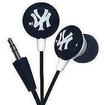 iHip MLF10169NYY MLB New York Yankees Printed Ear Buds, Blue