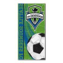 MLS Seattle Sounders Kick Beach Towel, 28 x 58-Inch