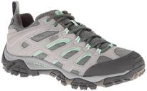 Merrell Women's Moab Waterproof Hiking Shoe,Drizzle/Mint,7 M