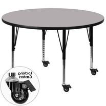 Flash Furniture Mobile 60-Inch Round Activity Table with