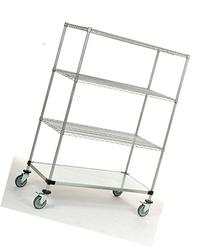 "24"" x 36"" x 69"" Mobile Shelving Unit with a 1200 lb Capacity"