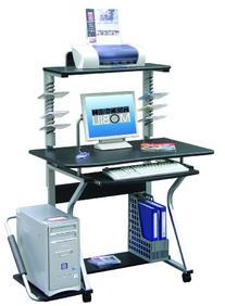 Techni Mobili Mobile Upright MDF Computer Desk, Graphite