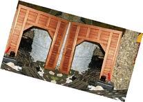 Model Railroad O Gauge Timber Frame Tunnel Portals - Set of