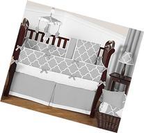 Sweet Jojo Designs Modern Gray and White Trellis Baby