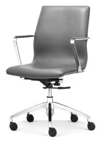 Zuo Modern Herald Low Back Office Chair, Gray