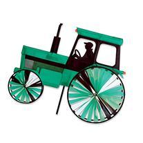 24 In. Modern Tractor Green Spinner