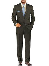 Salvatore Exte Men's Modern Two Button 2 piece Striped Suit