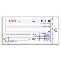** Small Money Receipt Book, 5 x 2 3/4, Carbonless Duplicate