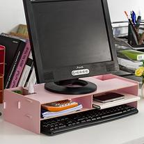 Monitor Laptop Multimedia Wood Stand with Collection Storage