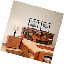 Prepac Monterey Cherry Double or Queen Bookcase Headboard 2