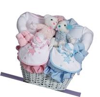 Moon & Stars Baby Gift Basket for Twins-Girl/Girl