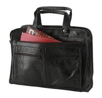 Maxam Brand Genuine Leather Briefcase features outside