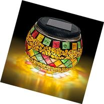 Mosaic Glass Ball LED Light - Solar Powered, Waterproof -