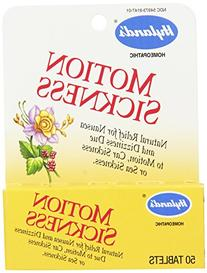 Hyland's Motion Sickness Relief Tablets, Natural Relief for