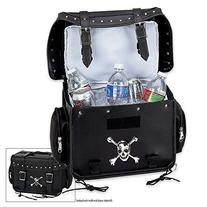 Diamond Plate Motorcycle Trunk/Cooler Bag with Skull