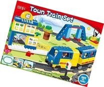 Motorized engine train set with sound Battery-Operated, Lego