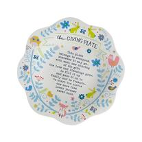 Natural Life MPLT009 Giving Plate Melamine, Rabbits and Owl