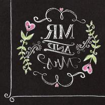 Creative Converting 18 Count Mr. and Mrs. Chalk Paper