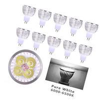 Lot of 10 PCS 12V 4W MR16 LED Bulbs - 6000K Daylight LED