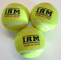 MRI Tennis Cricket Balls - Heavy Yellow Color Tennis Cricket