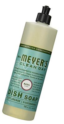 Mrs. Meyer's Clean Day Liquid Dish Soap Basil - 16 fl oz - 2