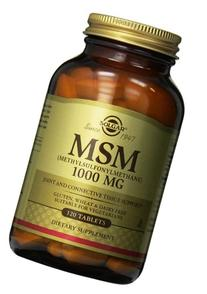Solgar MSM Tablets, 1000 Mg, 120 Count