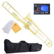 Mendini MTB-40 Intermediate B Flat Tenor Valve Trombone with